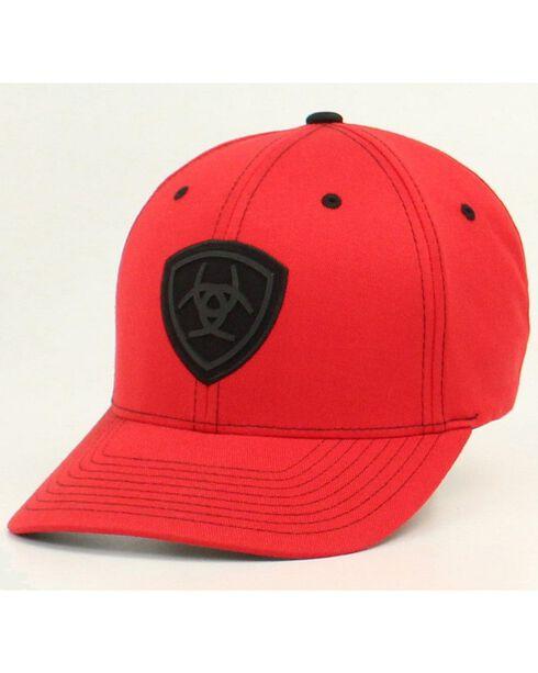 Ariat Men's FlexFit Logo Ball Cap, Red, hi-res