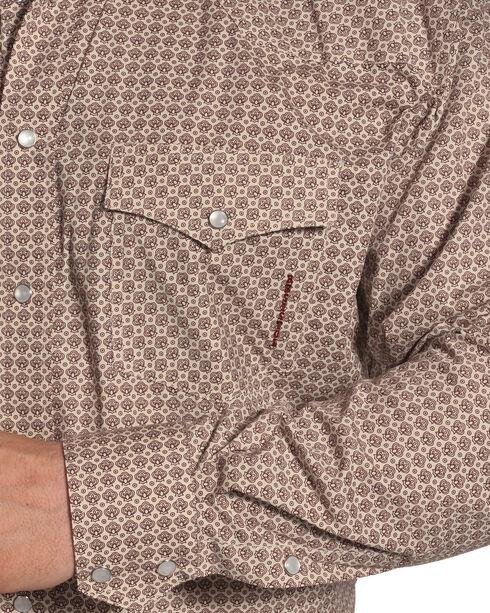 Resistol Men's Burgundy Jenkinsburg Print Shirt , Burgundy, hi-res