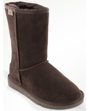 Minnetonka Women's Olympia Boots, Chocolate, hi-res