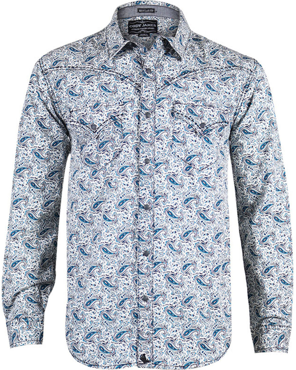 Cody James® Men's Paisley Long Sleeve Shirt, , hi-res