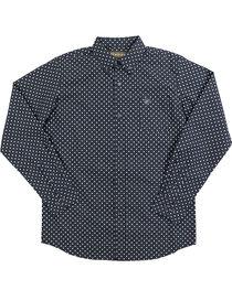 Ariat Boy's Tyler Print Pattern Long Sleeve Shirt, , hi-res