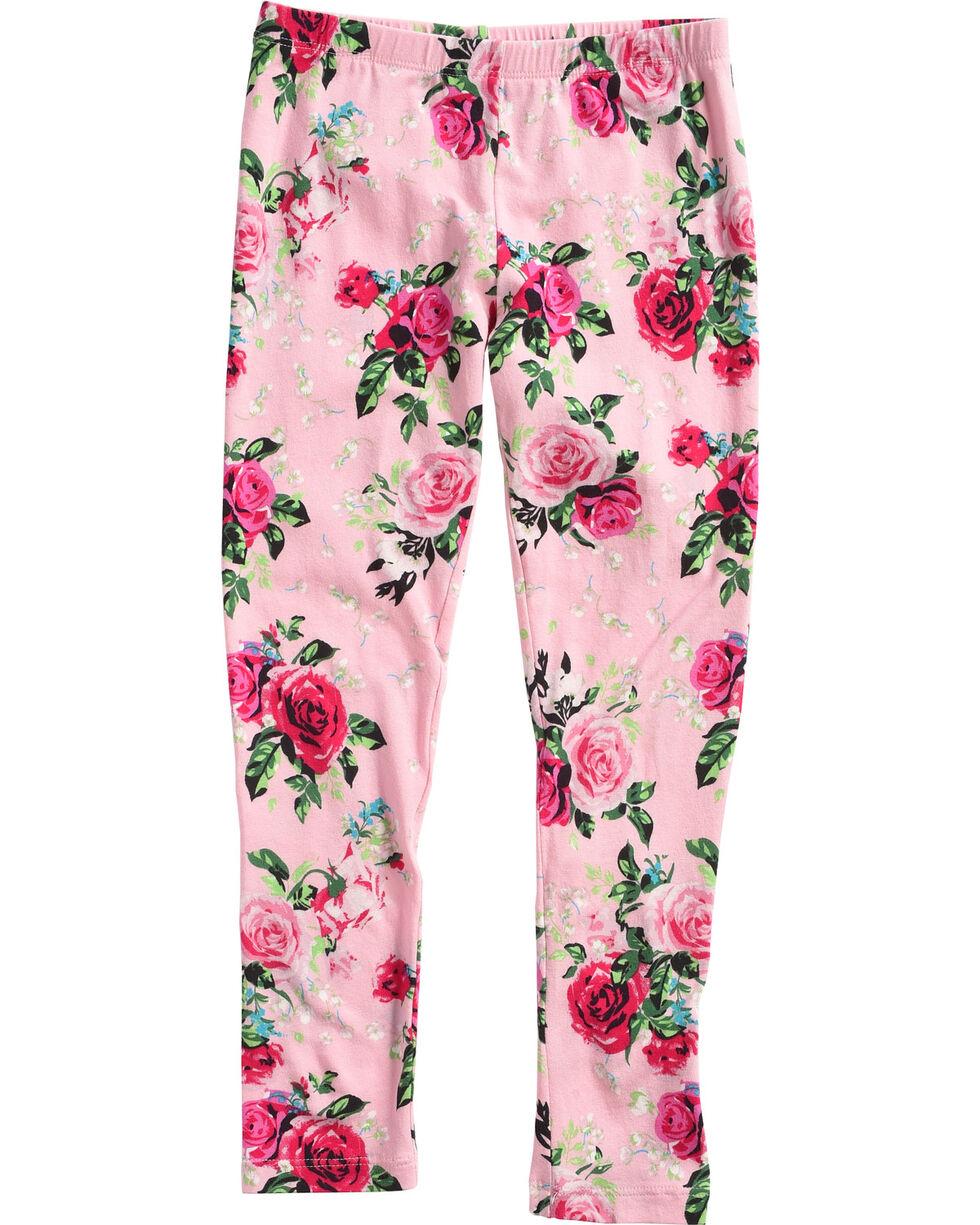 Shyanne Toddler Girls' Rose Patterned Leggings, Pink, hi-res