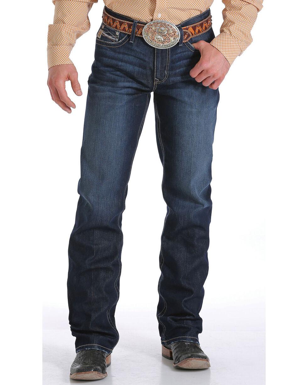 Cinch Men's Grant Performance Relaxed Boot Cut Jeans, Indigo, hi-res