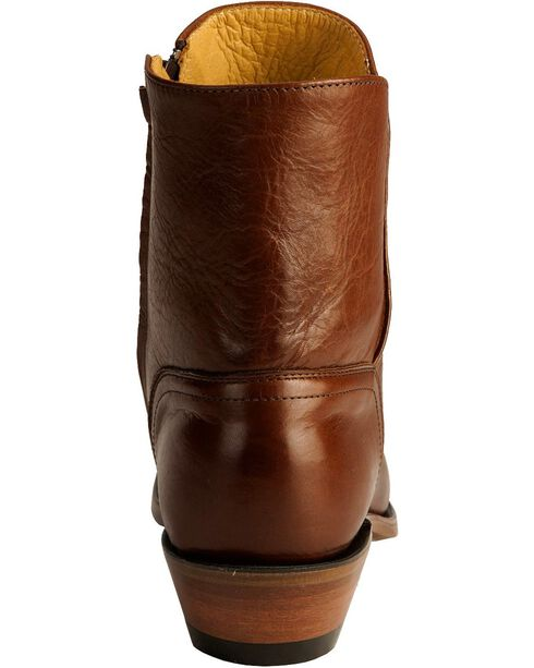 "Boulet Men's 9"" Side Zip Western Dress Boots, Tan, hi-res"