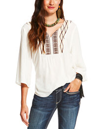 Ariat Women's White Sterling Top , , hi-res
