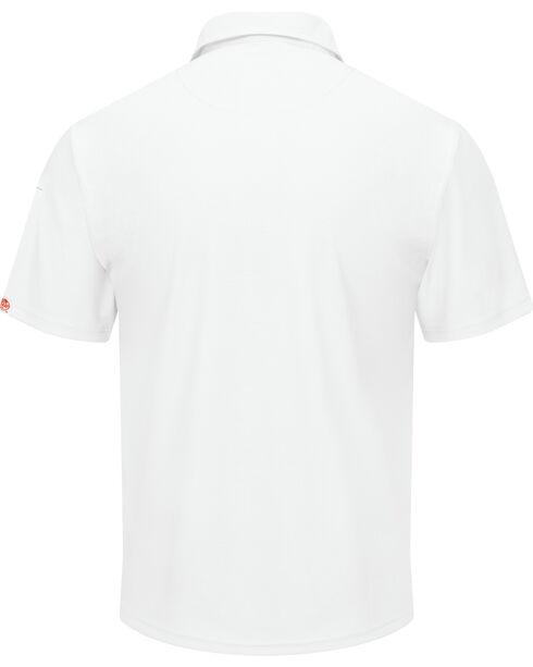 Red Kap Men's Performance Knit Flex Series Polo Shirt - Big & Tall, White, hi-res