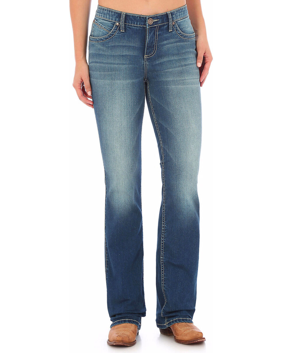Wrangler Women's Medium Wash Ultimate Riding Q-Baby Jeans  , Indigo, hi-res