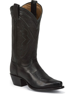 Tony Lama Women's Jersey Calf Western Boots, Black, hi-res