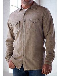 Ryan Michael Men's Tan Teton Texture Stripe Shirt, , hi-res