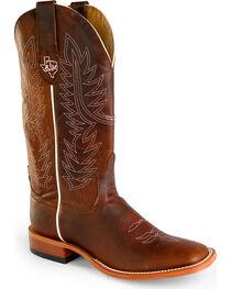 Horse Power Men's Goat Leather A&M Cowboy Boots - Square Toe , , hi-res