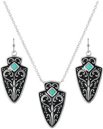Montana Silversmiths Women's Filigree Arrowhead Jewelry Set , , hi-res