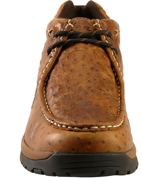 Roper Men's Ostrich Print Chukka Casual Boots, Brown, hi-res