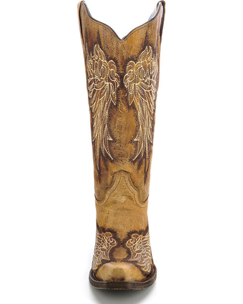 Corral Women's Angel Wing Western Boots, Antique Saddle, hi-res