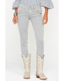 Grace in LA Women's Zipper Detail Jeans - Skinny , , hi-res