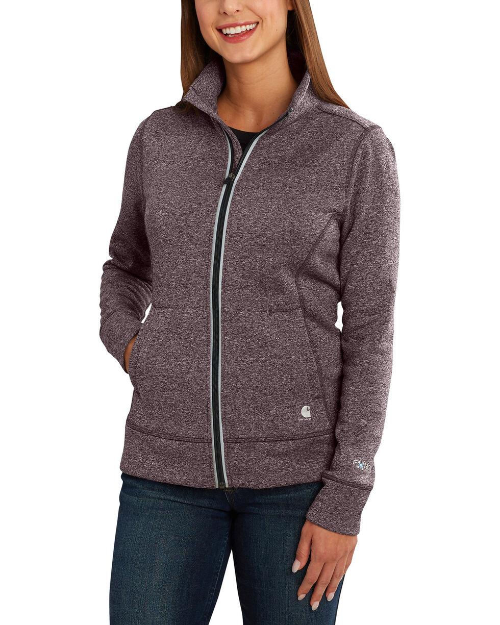 Carhartt Women's Force Extremes Zip Front Sweatshirt , Heather Grey, hi-res