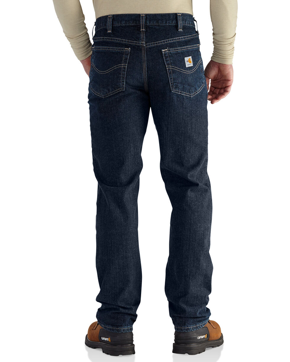 Carhartt Men's Flame Resistant RuggedFlex Traditional Fit Jeans, Indigo, hi-res
