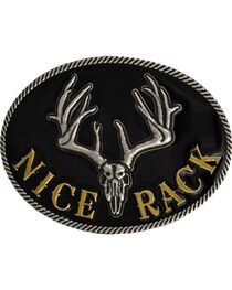 Montana Silversmiths Nice Rack Belt Buckle, , hi-res