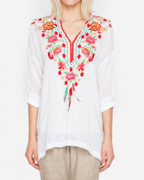 Johnny Was Women's White Blossom Blouse, , hi-res