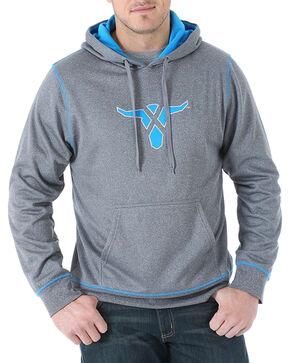 Wrangler 20X Men's Drawstring Pullover Hoodie, Charcoal, hi-res
