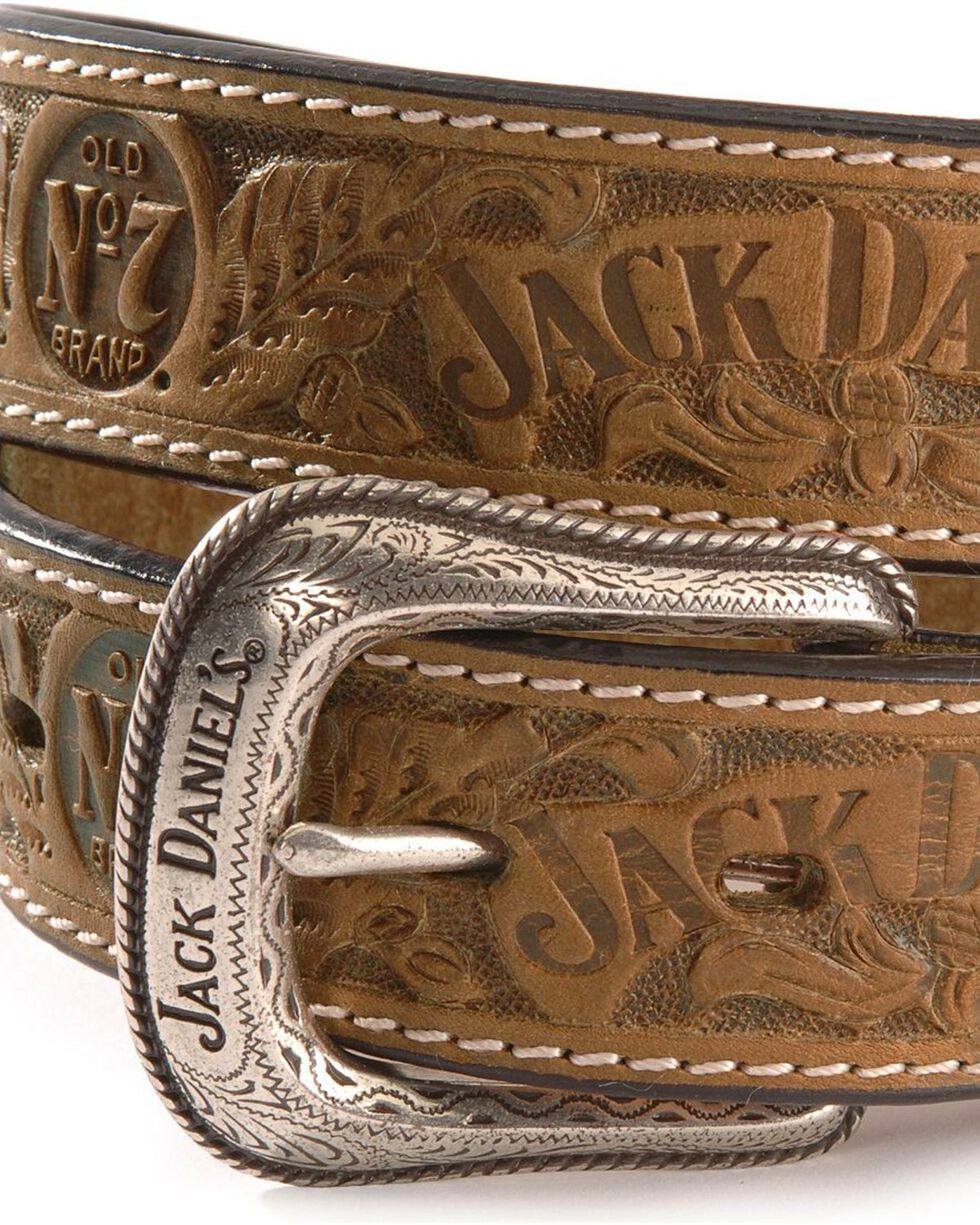 Jack Daniel's Embossed Leather Belt, Natural, hi-res