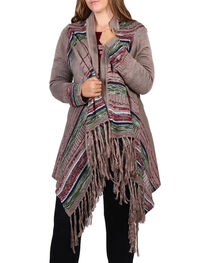 Umgee Women's Plus Striped Cardigan, , hi-res
