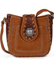 Trinity Ranch Women's Whipstitch Filigree Shoulder Bag, , hi-res