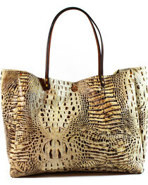 SouthLife Supply Women's Cream Croc Medium Bucket Bag, , hi-res