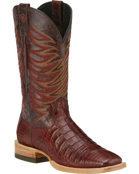 Ariat Men's Fire Catcher Caiman Western Boots, Cinnamon, hi-res
