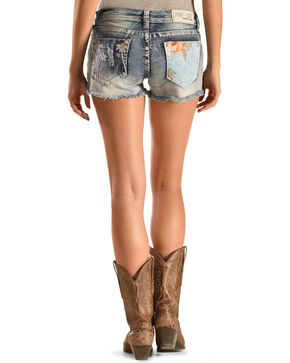 Grace in LA Women's Beach Comber Cutoff Shorts, Denim, hi-res