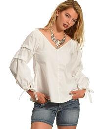 Polagram Women's Long Sleeve V-Neck Top , , hi-res