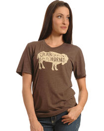 Cowgirl Justice Grab Life By The Horns Tee, , hi-res