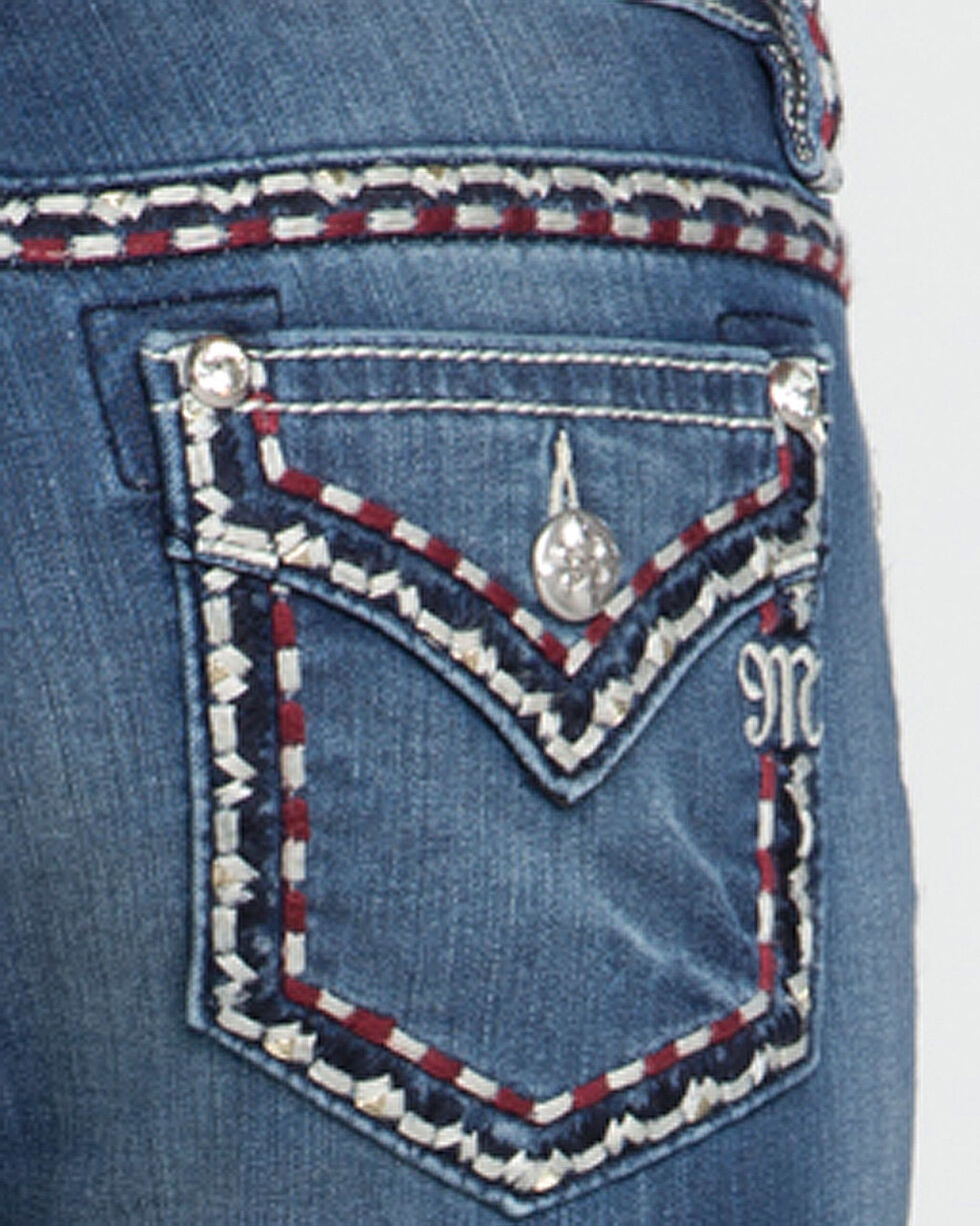 Miss Me Women's On The Move Mid-Rise Boot Cut Jeans, , hi-res
