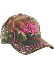 Cowgirl Up Women's Mossy Oak Ball Cap, , hi-res