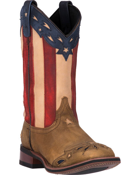 Laredo Women's Freedom Western Boots, Wheat, hi-res