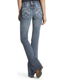 Ariat Real Women's Mid Rise Multi Stitch Moonstone Boot Cut Jeans, , hi-res