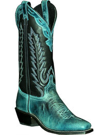 Abilene Women's Two Toned Cowhide Western Boots - Square Toe, , hi-res