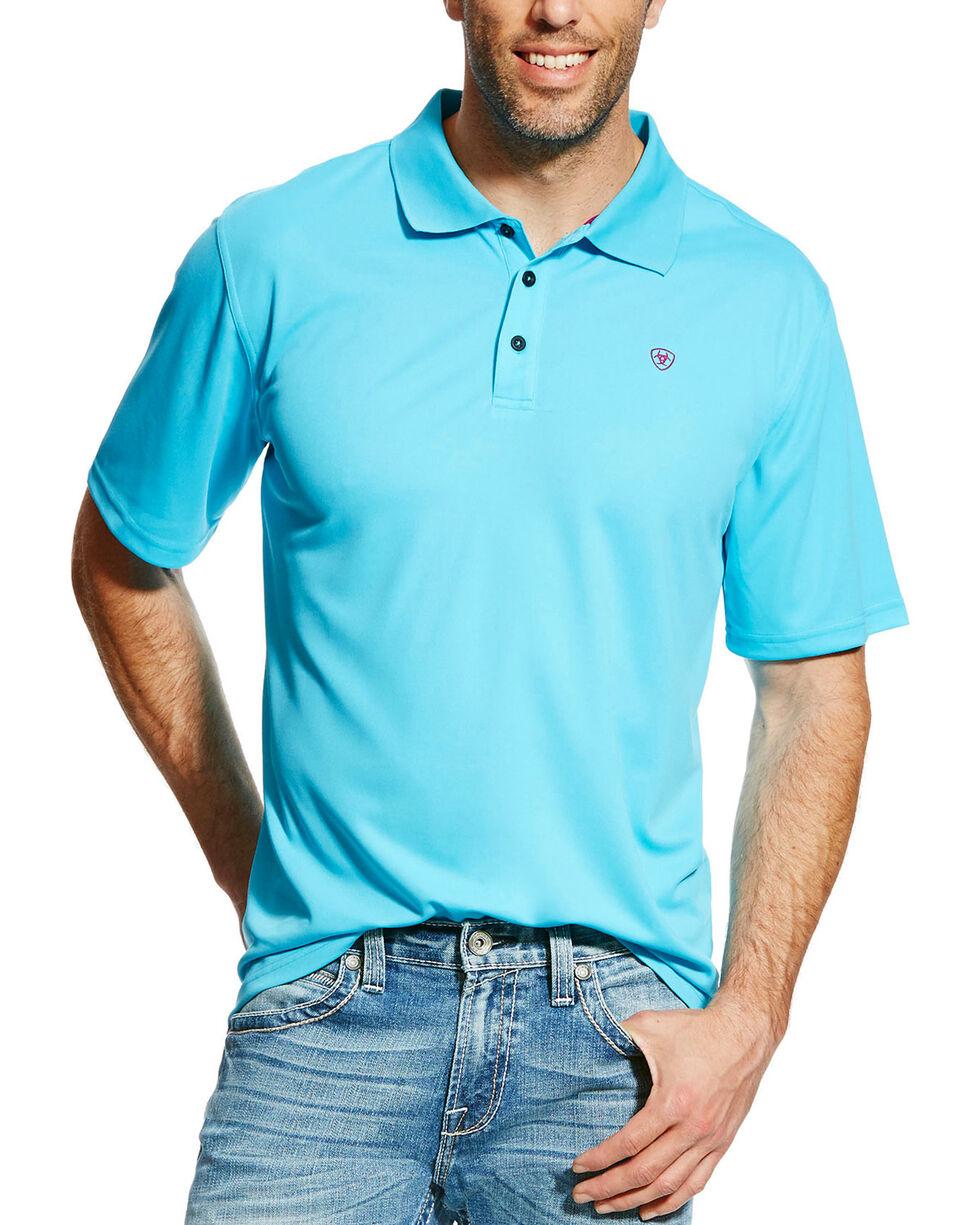 Ariat Men's Tek Polo, Blue, hi-res