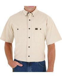 Wrangler Men's Natural Riggs Workwear Chambray Work Shirt, , hi-res