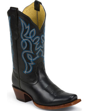 Nocona Women's Bliss Square Toe Western Boots, Black, hi-res