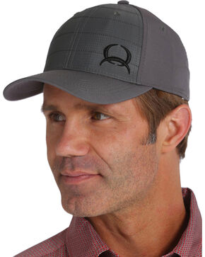 Cinch Men's Logo Ripstop Baseball Cap, Grey, hi-res