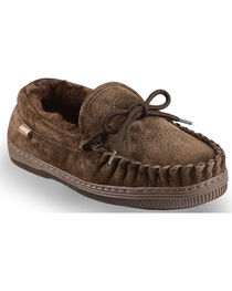 Chestnut Women's Leather Moccasin Slippers, , hi-res