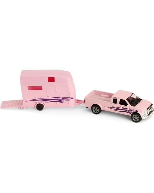 Pink Ford F-250 Truck and Trailer Toy, Pink, hi-res