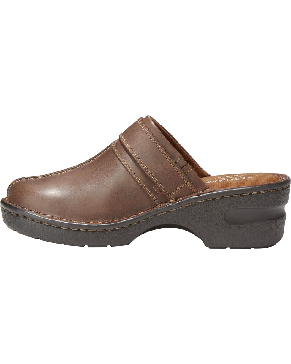 Eastland Women's Mae Clog Slip Ons, Brown, hi-res