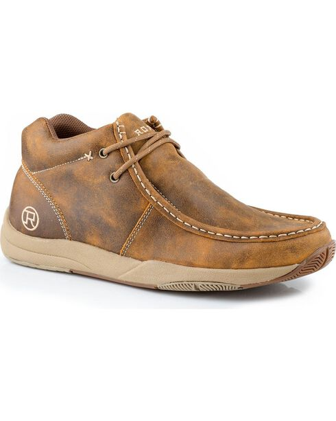 Roper Men's Casual Chukka Boots, Tan, hi-res