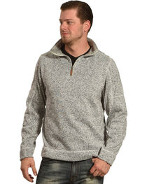 Victory Rugged Wear Men's Heather Knit Quarter Zip Pullover, , hi-res