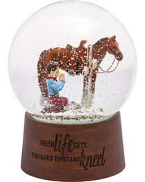 BB Ranch Praying Cowboy Snow Globe, , hi-res