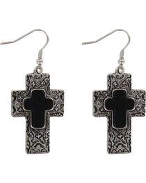 Shyanne® Women's Engraved Cross Earrings, , hi-res