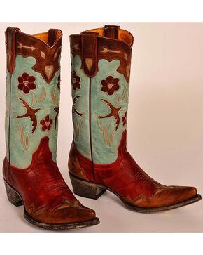"Old Gringo Women's Golondrina 13"" Western Boots, Red, hi-res"