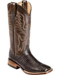 Ferrini Teju Lizard Cowgirl Boots - Wide Square Toe, , hi-res