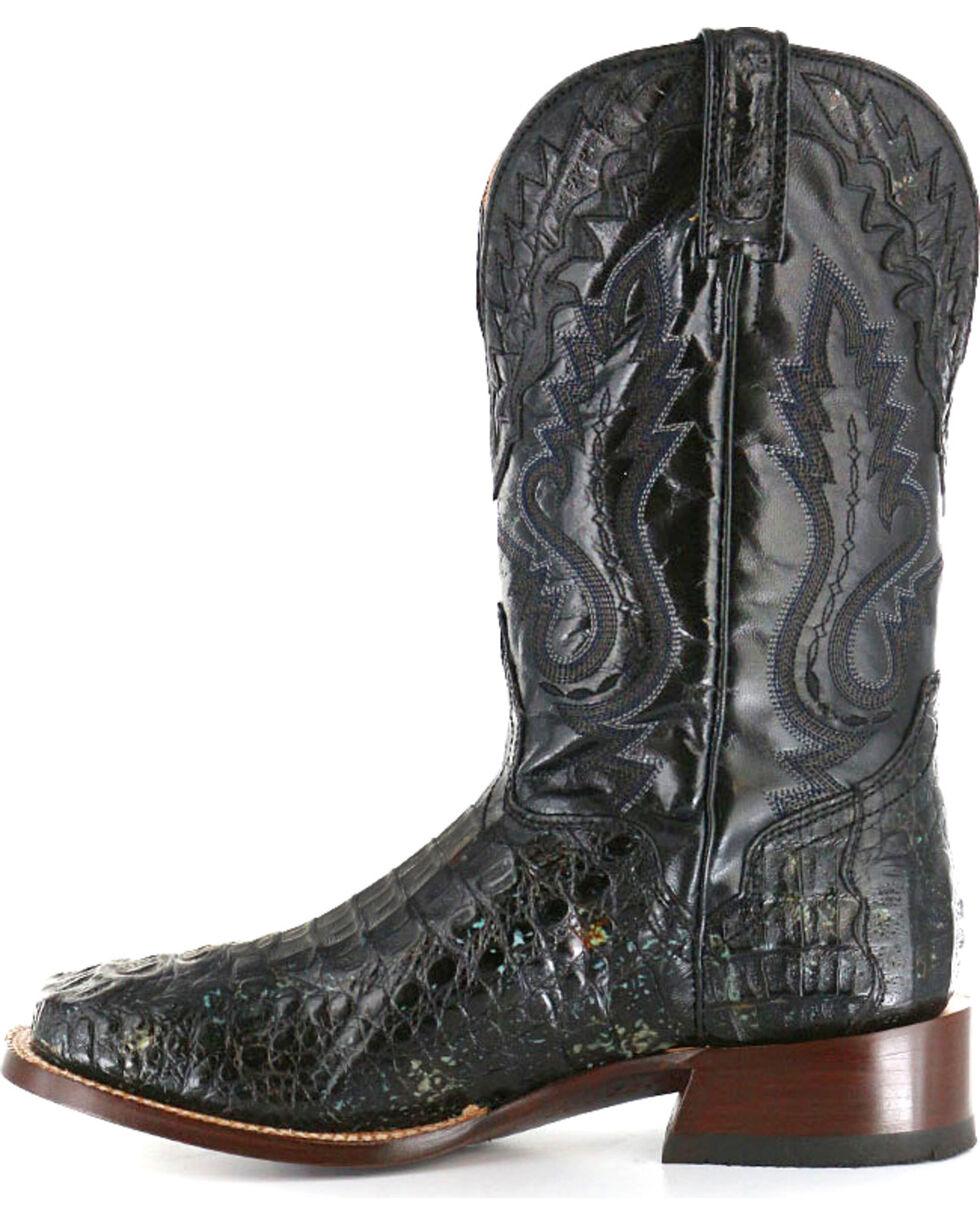 El Dorado Men's Caiman Square Toe Western Boots, Black, hi-res